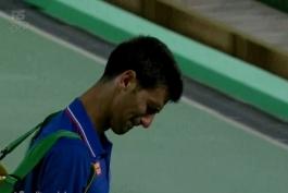 اشک های جوکوویچ پس از حذف شدن از المپیک 2016 ریو ( عکس )