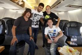 گزارش تصویری: سفر مسی، پویول، اینیستا و سوارز به موناکو