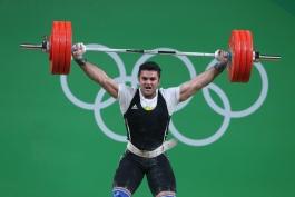 وزنه برداری المپیک ریو 2016؛ براری موفق به کسب مدال نشد