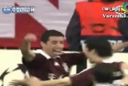 گل ثانیه 8 ماکای به رئال با گزارش عربی; ترکیب دو تیم خاطره ــست