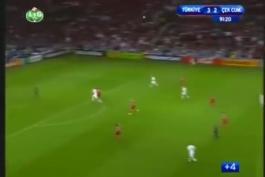هایلایت بازی خاطره انگیز ترکیه3-2جمهوری چک