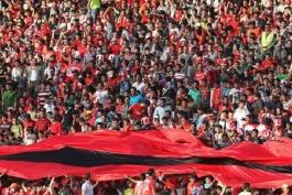 سرخ - ورزشگاه آزادی - هواداران فوتبال - تماشاگران