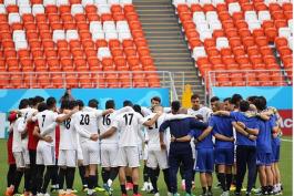 حلقه اتحاد تیم ملی ایران قبل از بازی ایران - پرتغال