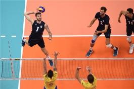 لیگ ملت های والیبال-تیم ملی والیبال آمریکا-تیم ملی والیبال برزیل