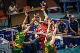 والیبال-تیم ملی والیبال فرانسه-تیم ملی والیبال استرالیا-لیگ ملت های والیبال
