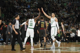 Kyrie Irving- Jason Tatum- بوستون سلتیکس- آتلانتا هاوکس- بسکتبال NBA- بسکتبال آمریکا