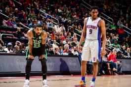 بوستون سلتیکس- دیترویت پیستونز- کایری اروینگ- بسکتبال NBA- بسکتبال آمریکا