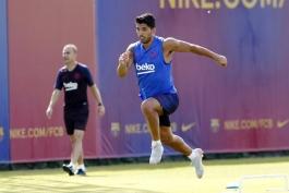 BARCELONA-بارسلونا-مهاجم-اروگوئه-تمرینات