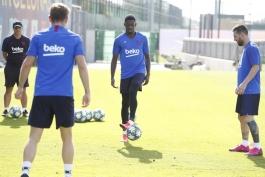 barcelona-بارسلونا-مهاجم-آرژانتین-فرانسه-تمرینات-لیگ قهرمانان اروپا