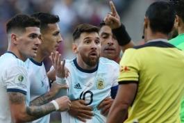 Argentina-آرژانتین-شیلی-اخراج مسی