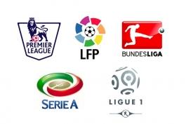 لالیگا-La Liga-اسپانیا-ایتالیا-سری آ-Serie A-لیگ برتر-انگلستان-لیگ فرانسه-بوندس لیگا-آلمان