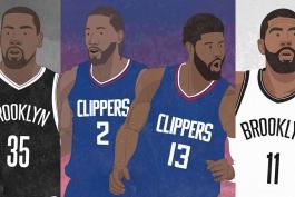NBA - لس آنجلس لیکرز - لس آنجلس کلیپرز - کوین دورنت - کوای لنارد - پال جرج