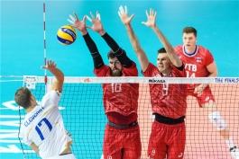 لیگ ملت های والیبال - تیم ملی والیبال فرانسه - تیم ملی والیبال روسیه