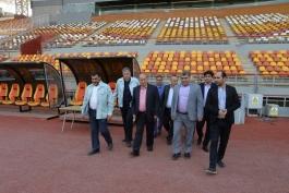 فوتبال ایران-ورزشگاه فولاد آرنا-رئیس فدراسیون و مدیرعامل باشگاه فولاد خوزستان