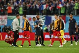 جام جهانی 2018 روسیه - بلژیک - فرانسه - کاریکاتور - عمر مومنی