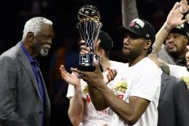 بسکتبال NBA - ارزشمندترین بازیکن فینال NBA - جایزه MVP فینال NBA - کوای لنارد - بیل راسل - تورنتو رپترز