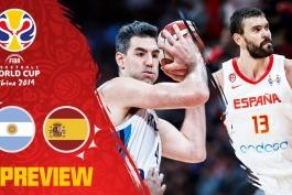 اخبار بسکتبال - جام جهانی بسکتبال - جام جهانی بسکتبال چین 2019 - تیم ملی بسکتبال آرژانتین - تیم ملی بسکتبال اسپانیا