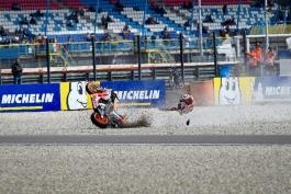 موتوجیپی – مسابقات موتورسواری – هوندا – خورخه لورنزو - موتوجیپی هلند - تصادف موتور - گرندپری هلند