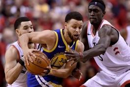 اخبار و نتایج بسکتبال NBA - فینال NBA - گلدن استیت وریرز - تورنتو رپترز - استفن کری