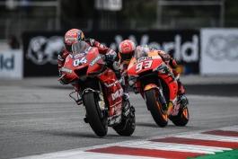 موتوجیپی – مسابقات موتورسواری – موتوجیپی اتریش- پیست ردبول رینگ - مسابقه MotoGP - دوکاتی - آندره دویتسیوزو