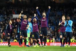 بارسلونا - لالیگا - برد مقابل رئال مادرید
