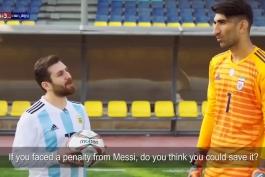 کلیپ جالب AFC ؛ سیو پنالتی مسی توسط بیرانوند