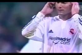 هایلایت عملکرد زین الدین زیدان در ال کلاسیکو فصل 2001/2002