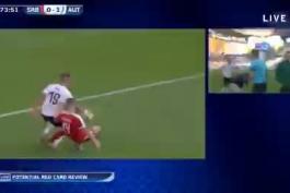 مصدومیت وحشتناک هانس وولف بازیکن اتریش من از خونه دیدم دردم گرفت😬