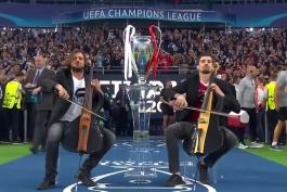 2cellos در فینال لیگ قهرمانان 2018 (رئال vs لیورپول)