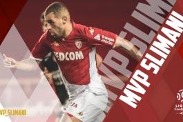 دستیابی اسلام سلیمانی به جایزه بهترین بازیکن ماه سپتامبر موناکو در فصل 20-2019