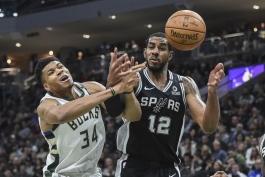 بسکتبال NBA-میلواکی باکس-سن آنتونیو اسپرز-nba basketball-san antonio spurs-Milwaukee Bucks