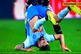 ویدیو؛ حرکت جوانمردانه آنسالدی، مدافع تورینو در مواجهه با هیسای که از مصدومیت جدی بازیکن ناپولی جلوگیری کرد