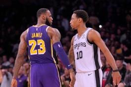 اخبار بسکتبال NBA - نتایج مسابقات NBA - هایلایت بازی های NBA - کنفرانس غرب NBA - لس آنجلس لیکرز - دمار دروزان - لبران جیمز