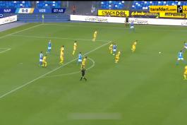 خلاصه بازی ناپولی 2-0 هلاس ورونا (سری آ - 2019/20)