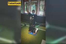 مانوئل نویر و پیگیری تمرینات انفرادی با کمک کاپ قهرمانی بوندسلیگا! / ویدیو