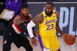 بسکتبال / لس آنجلس لیکرز / پورتلند تریل بلیزرز / NBA Basketball