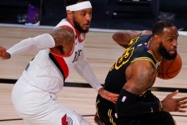 بسکتبال / پورتلند تریل بلیزرز / لس آنجلس لیکرز / NBA Basketball