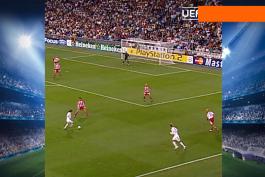 پنجاهمین گل رائول در لیگ قهرمانان اروپا روی ارسال دیوید بکام (2005/9/28) / ویدیو