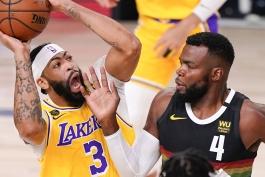 آنتونی دیویس - لس آنجلس لیکرز - بسکتبال NBA - پلی آف NBA - پال میلسپ - دنور ناگتس