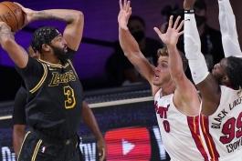 آنتونی دیویس - لس آنجلس لیکرز - فینال NBA - بسکتبال NBA - نتایج مسابقات NBA - میامی هیت