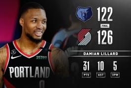 اخبار بسکتبال NBA - مسابقات بسکتبال NBA - پورتلند تریل بلیزرز - دیمین لیلارد