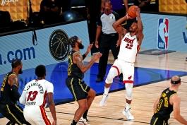 جیمی باتلر - میامی هیت - فینال NBA - بسکتبال NBA - نتیجه مسابقات NBA - لس آنجلس لیکرز
