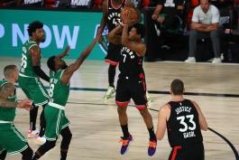کایل لاوری - بوستون سلتیکس - تورنتو رپترز - بسکتبال NBA - پلی آف NBA