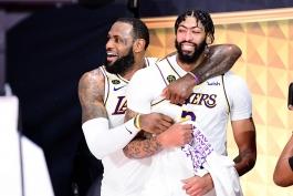 لبران جیمز - آنتونی دیویس - لس آنجلس لیکرز - فینال NBA - بسکتبال NBA - قهرمانی لس آنجلس لیکرز