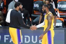 لبران جیمز - آنتونی دیویس - لس آنجلس لیکرز - پلی آف NBA - بسکتبال NBA