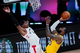 لبران جیمز - لس آنجلس لیکرز - تورنتور رپترز - مسابقات بسکتبال NBA