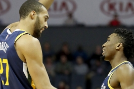 داناوان میچل - رودی گوبر - یوتا جز - بسکتبال NBA