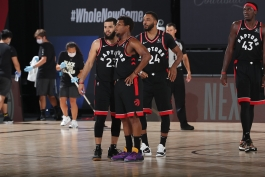 کایل لاوری - پاسکال سیاکم - تورنتو رپترز - بسکتبال NBA - پلی آف NBA