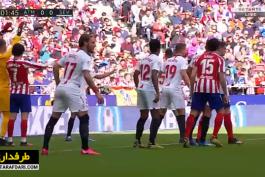 خلاصه بازی اتلتیکو مادرید 2-2 سویا (لالیگا اسپانیا - 2019/20)