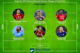 نامزدهای کسب عنوان بهترین بازیکن فصل 2019/20 لیگ برتر انگلیس از نگاه هواداران